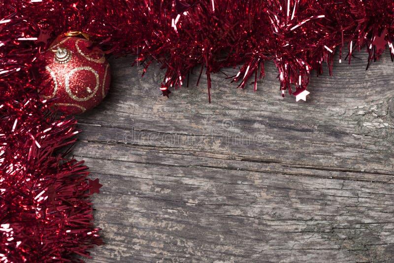 闪亮金属片圣诞节装饰 免版税库存图片