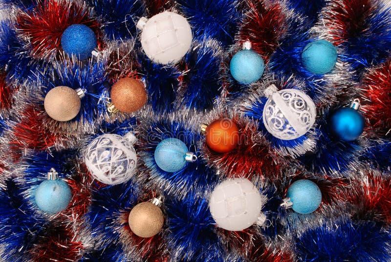 闪亮金属片-圣诞节装饰 免版税库存照片