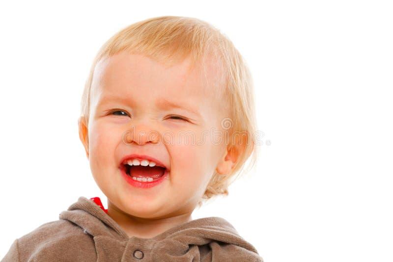 闪光可爱的婴孩纵向  库存照片