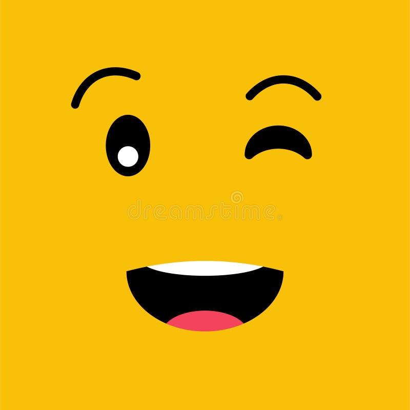 闪光滑稽的情感emoji面孔 简单的意思号图表 10 eps例证盾向量 向量例证