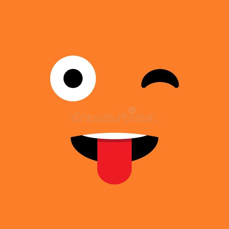 闪光,讽刺,滑稽的情感emoji面孔 简单的意思号图表 10 eps例证盾向量 皇族释放例证
