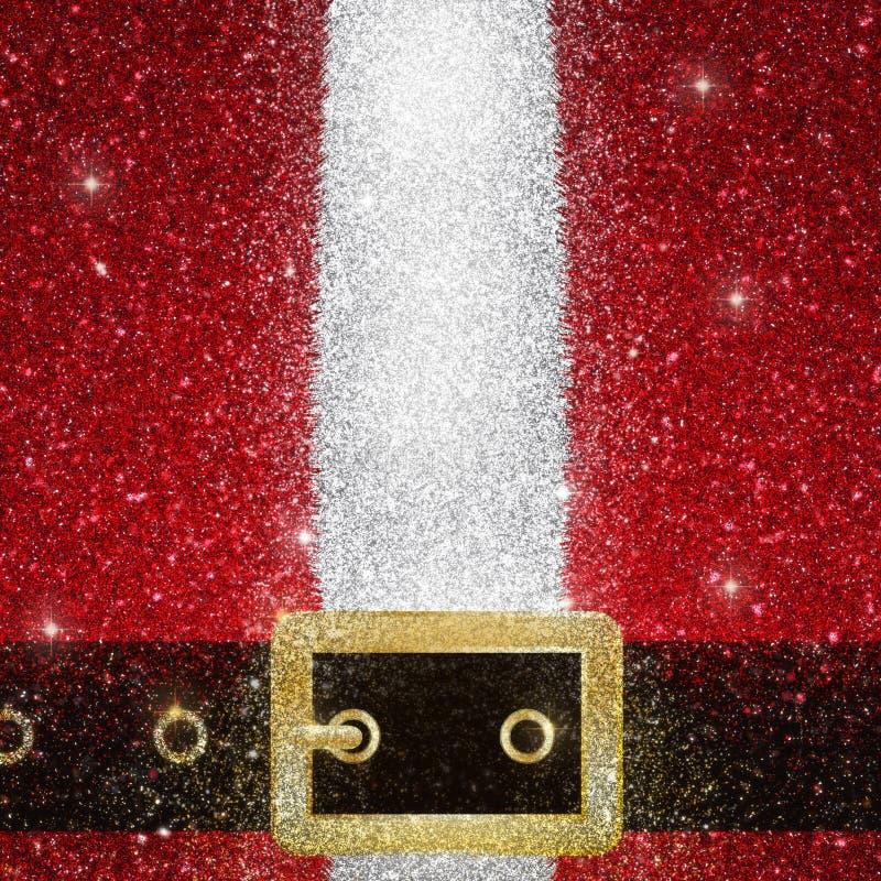 闪烁作用圣诞老人外套和传送带 皇族释放例证