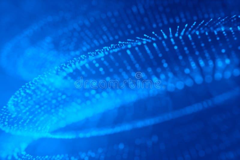 闪烁光提取defocused蓝色背景 库存例证