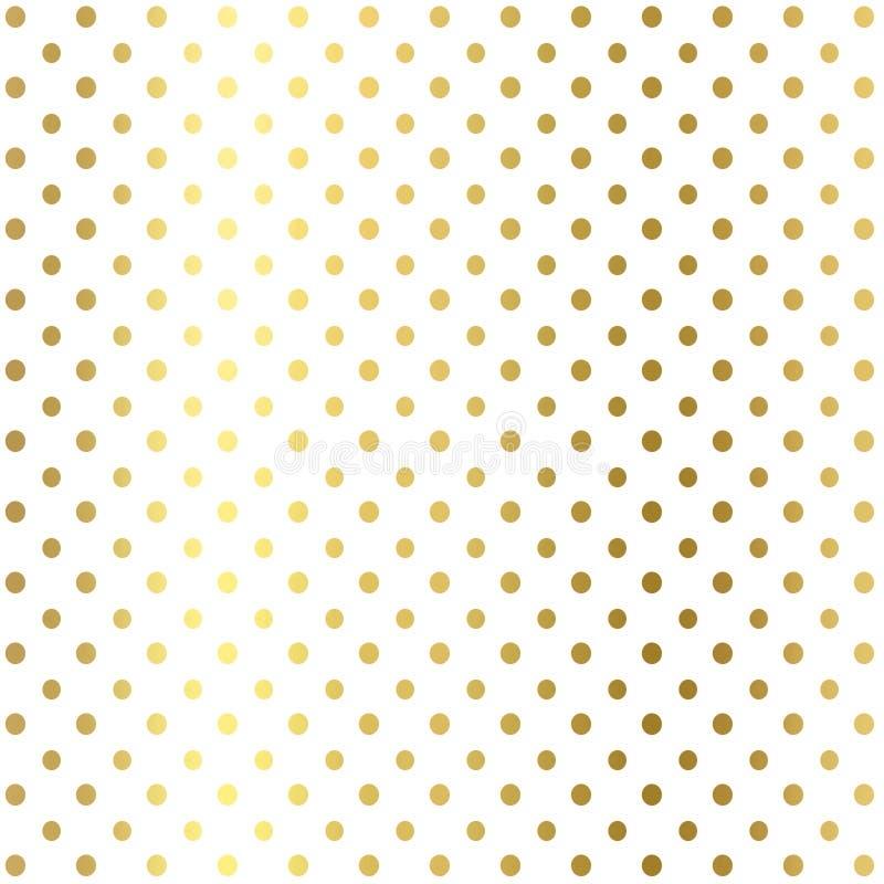 闪烁加点几何在白色背景,金子纹理 dotspattern的闪烁 闪烁几何墙纸 库存例证