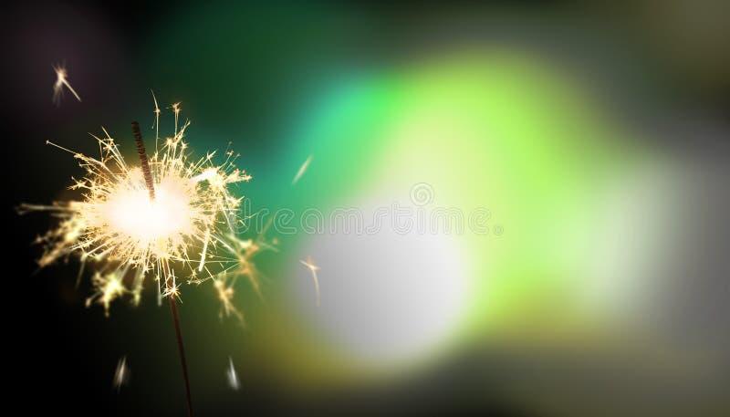 闪烁发光物-新年/新年` s伊芙/庆祝 库存照片