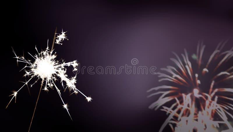 闪烁发光物-新年/新年` s伊芙/庆祝 免版税图库摄影