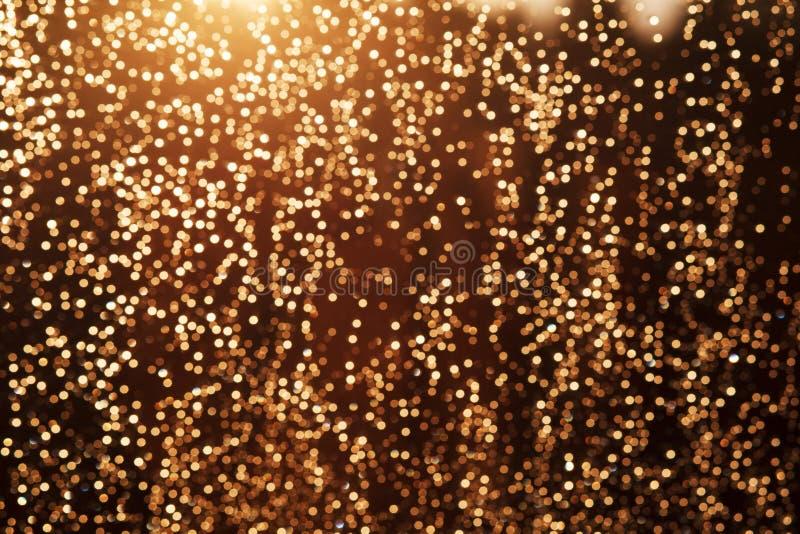 闪烁欢乐圣诞灯背景 免版税库存图片