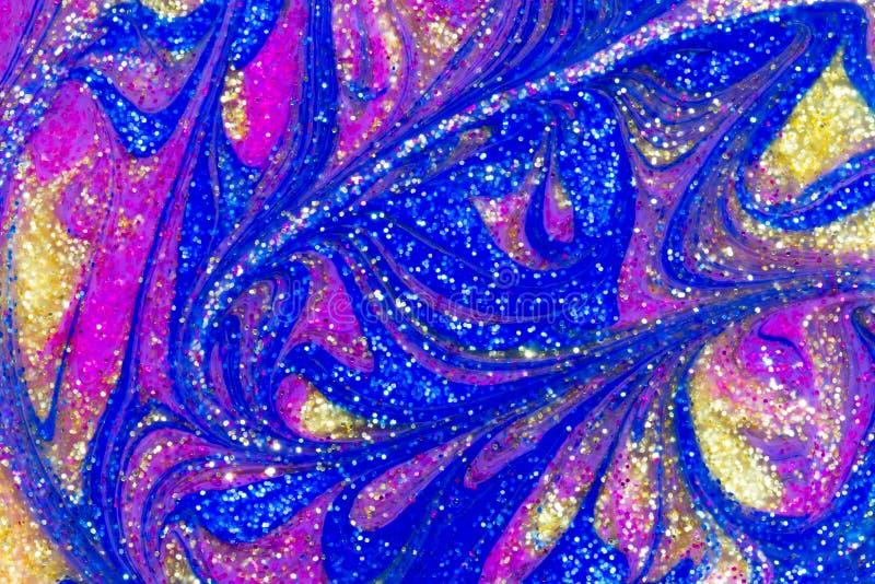 闪烁油漆漩涡豪华抽象背景  图库摄影