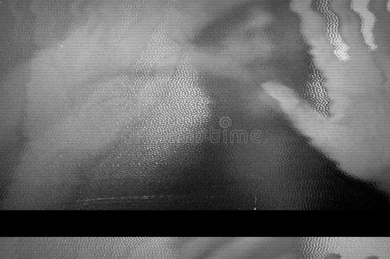 闪烁的屏幕电视 免版税库存照片