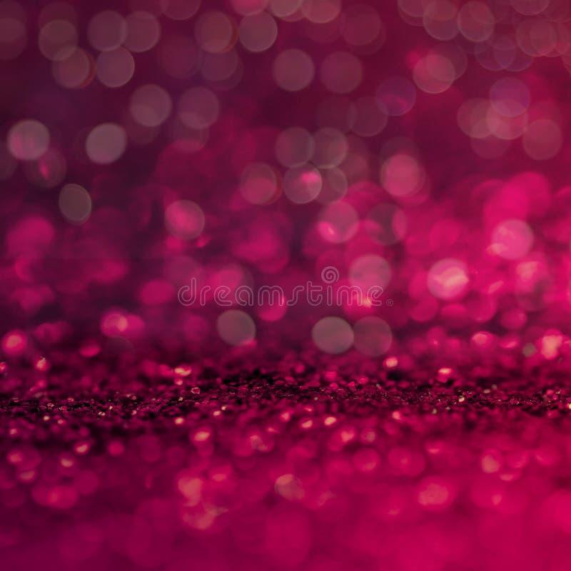 闪烁葡萄酒defocus点燃背景 红色,白色和黑为圣诞节和新年背景 免版税库存图片