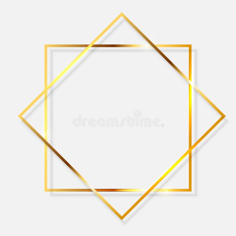 闪烁金的油漆构造了在透明背景的框架 r 向量例证