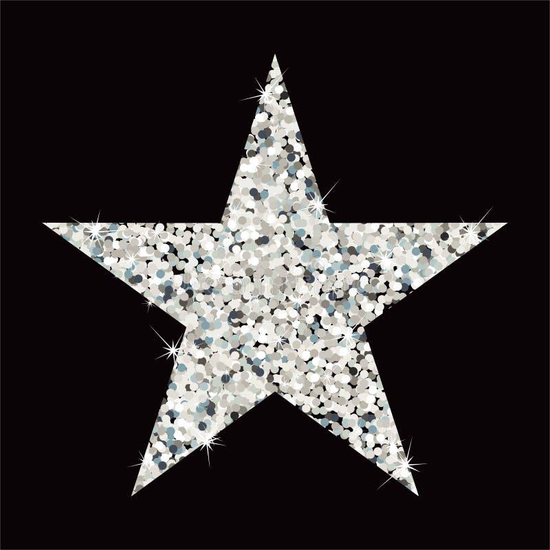 闪烁银星勋章 向量例证
