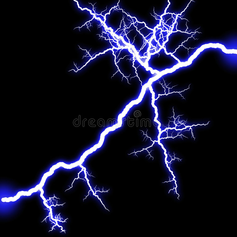 闪电发光 库存例证