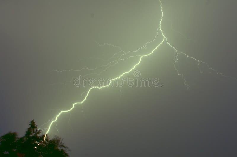 闪电和雷 免版税库存图片