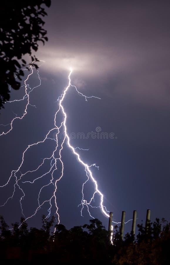 闪电和雷 库存照片