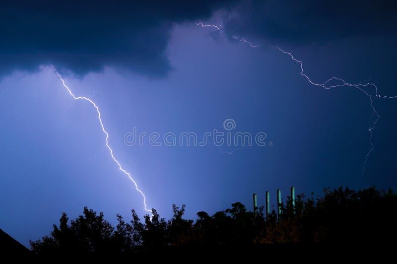 闪电和雷 库存图片