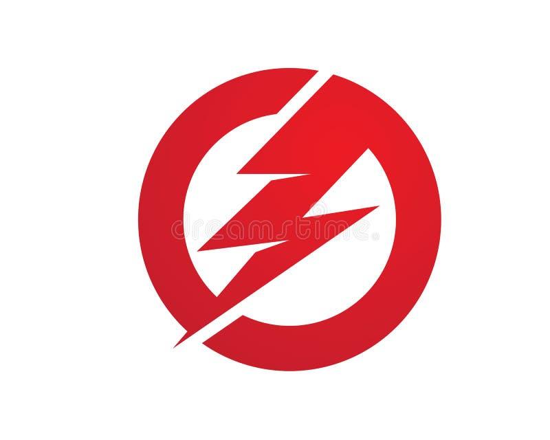 闪电商标模板 向量例证