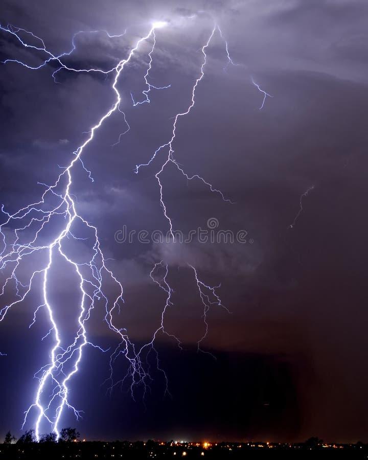 闪电图森 库存照片