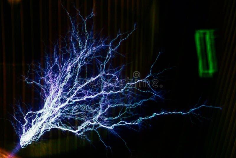闪电展示在波士顿 库存照片