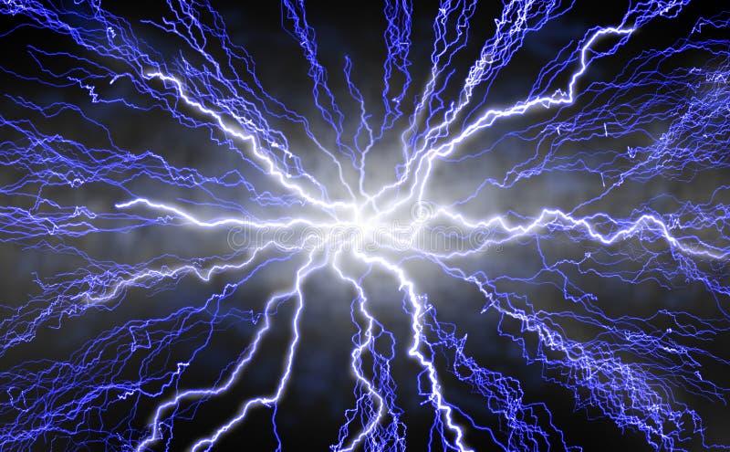 闪电放热 库存例证