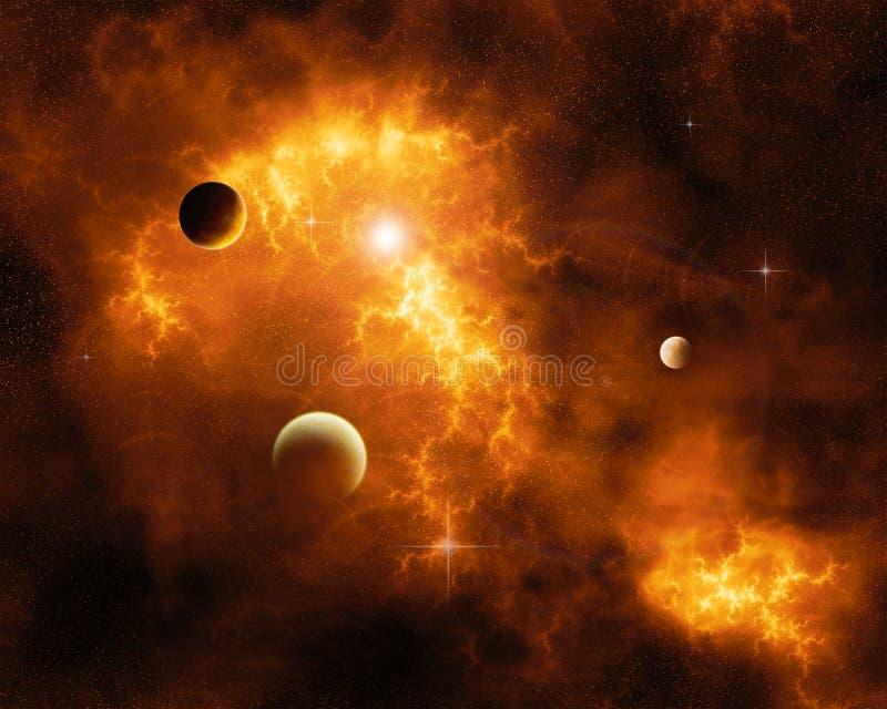 闪电星云,橙色 图库摄影