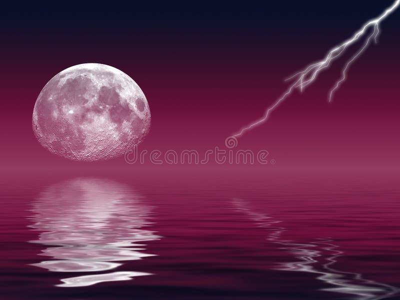 闪电月亮 向量例证