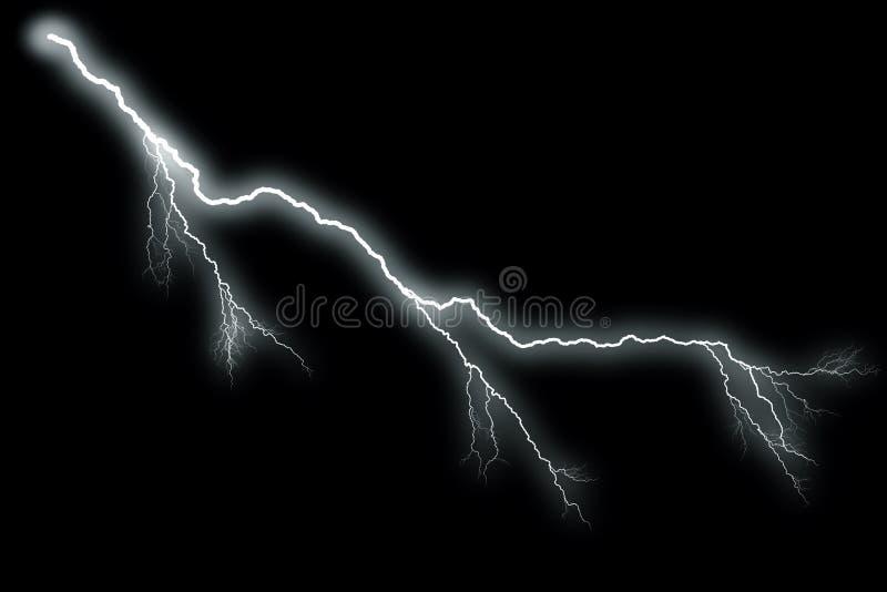 闪电有黑背景 向量例证