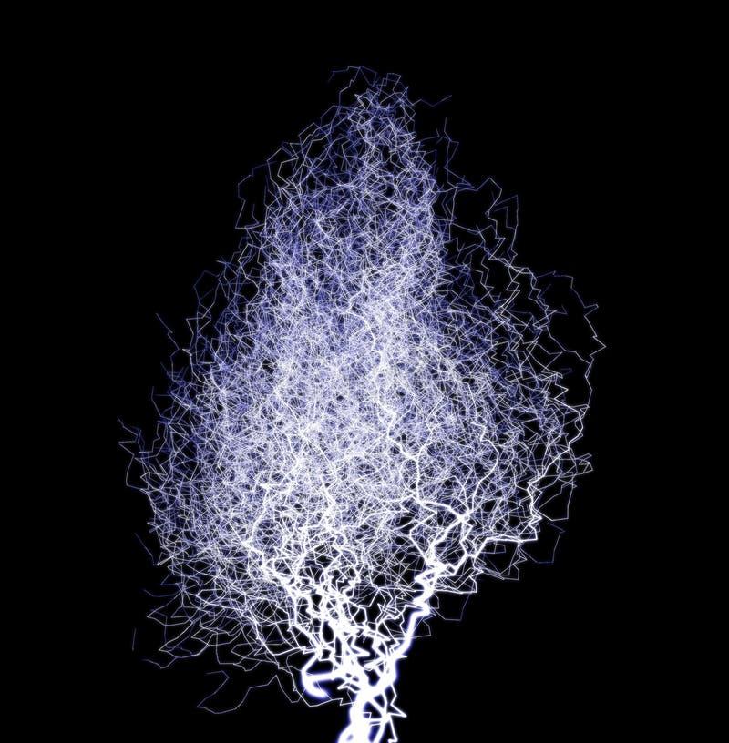闪电结构树2 向量例证