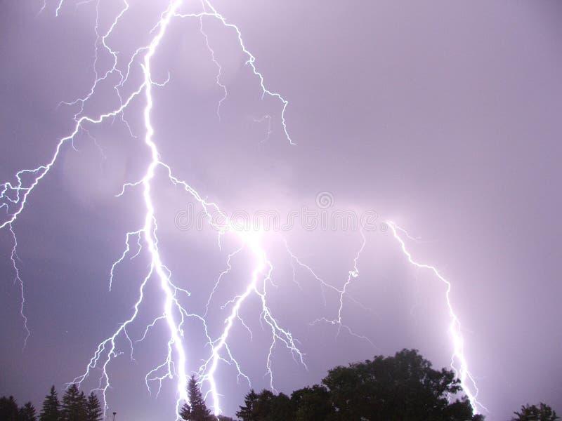 闪电罗马尼亚风暴 免版税库存图片