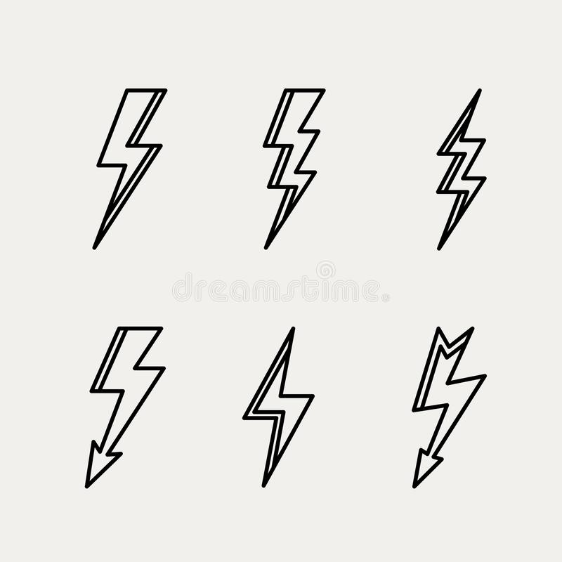 闪电象最小的线性等高概述 向量例证