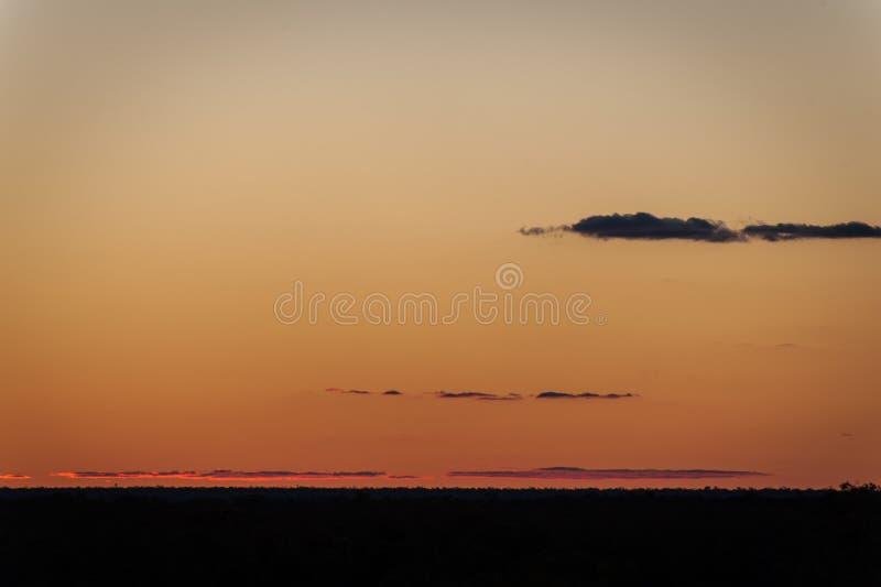 闪电里奇日落澳大利亚-从第一个矿站点的看法 图库摄影