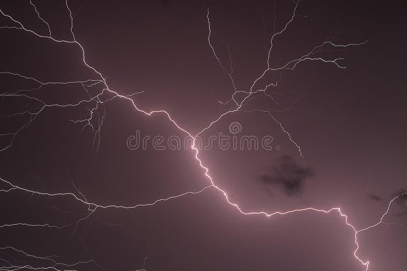 闪电闪光 图库摄影