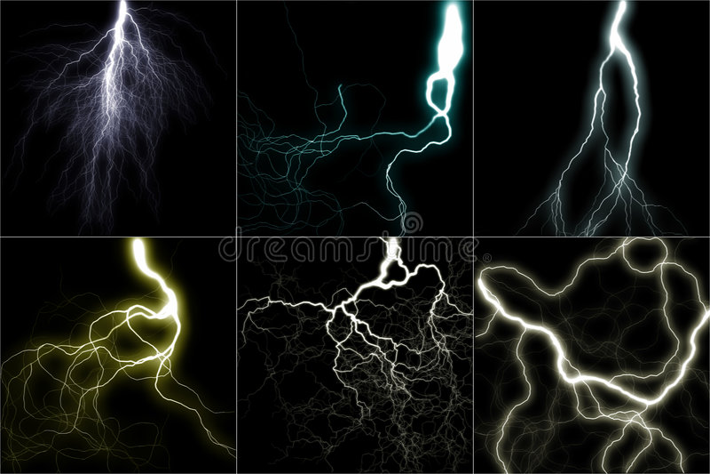 闪电集 向量例证