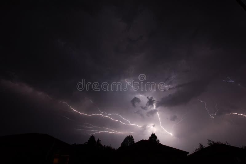 闪电雷暴 库存图片