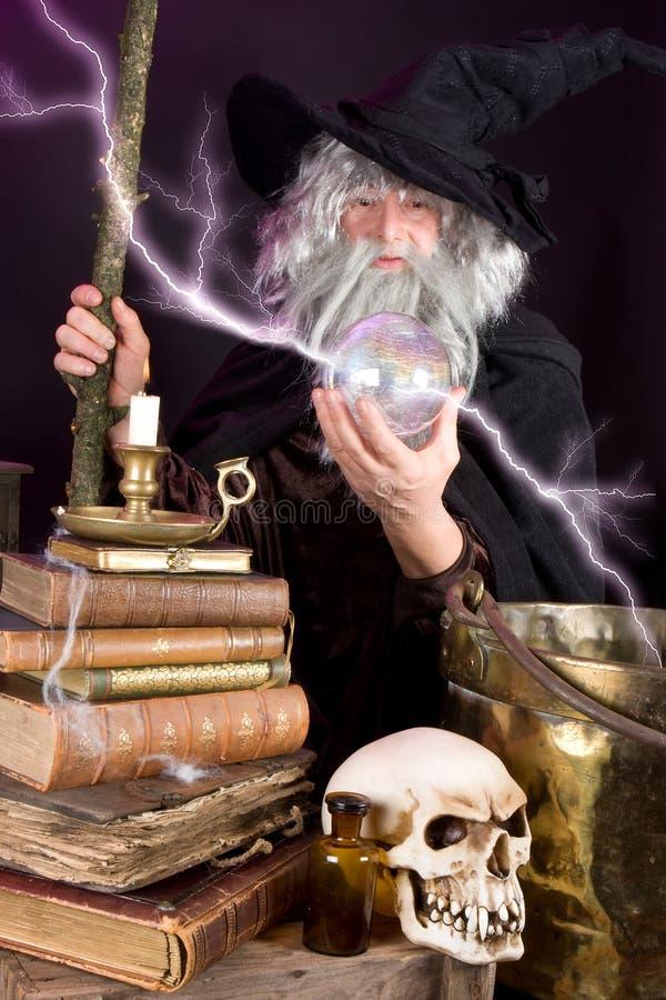 闪电魔术 免版税库存照片