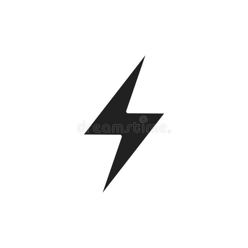 闪电,电力传染媒介设计元素 能量和雷电标志 雷电标志 一刹那传染媒介象征 皇族释放例证