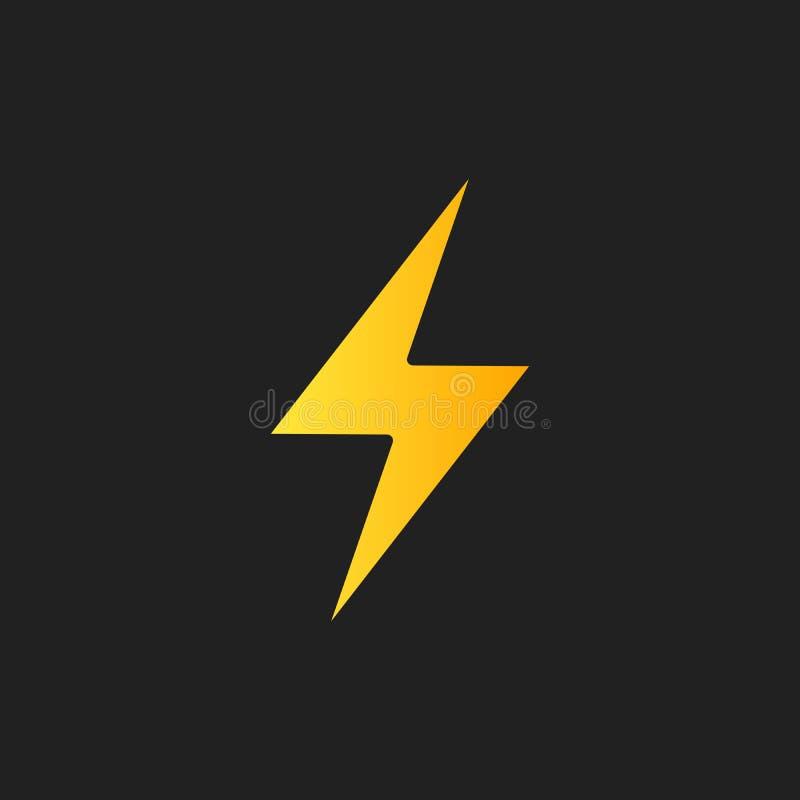 闪电,电力传染媒介设计元素 能量和雷电标志 雷电标志 一刹那传染媒介象征 向量例证