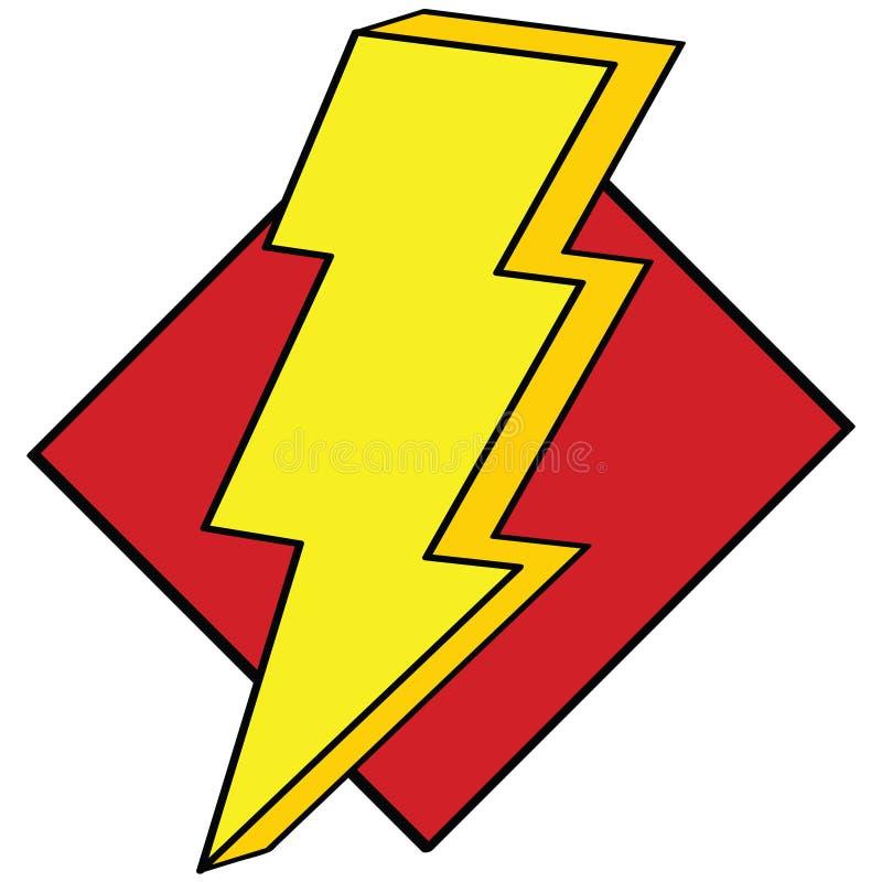 闪电 向量例证