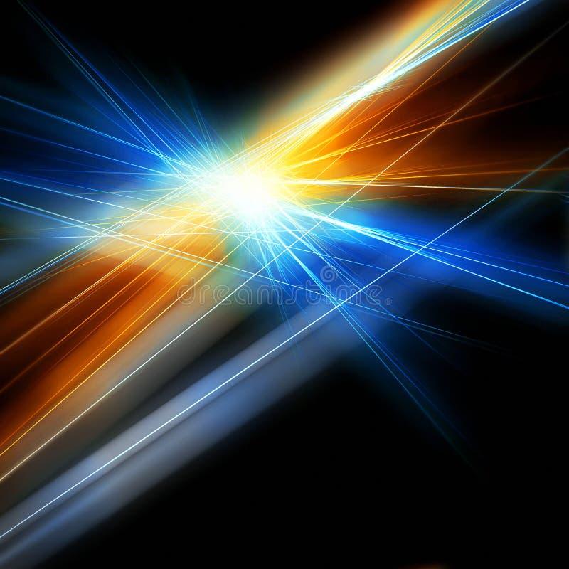 闪耀明亮的光芒 向量例证