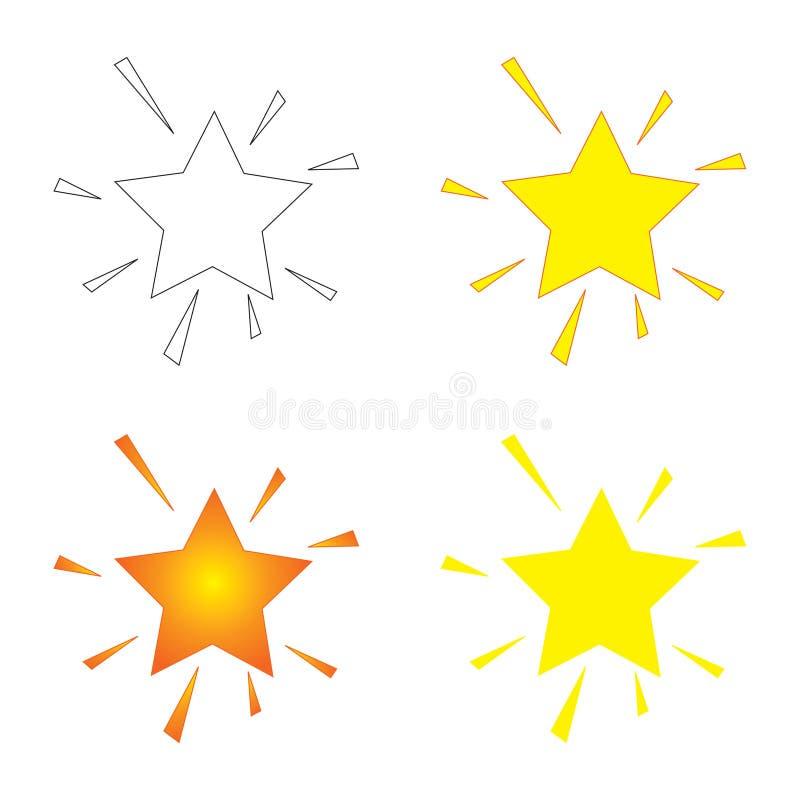 闪耀的星形 库存例证