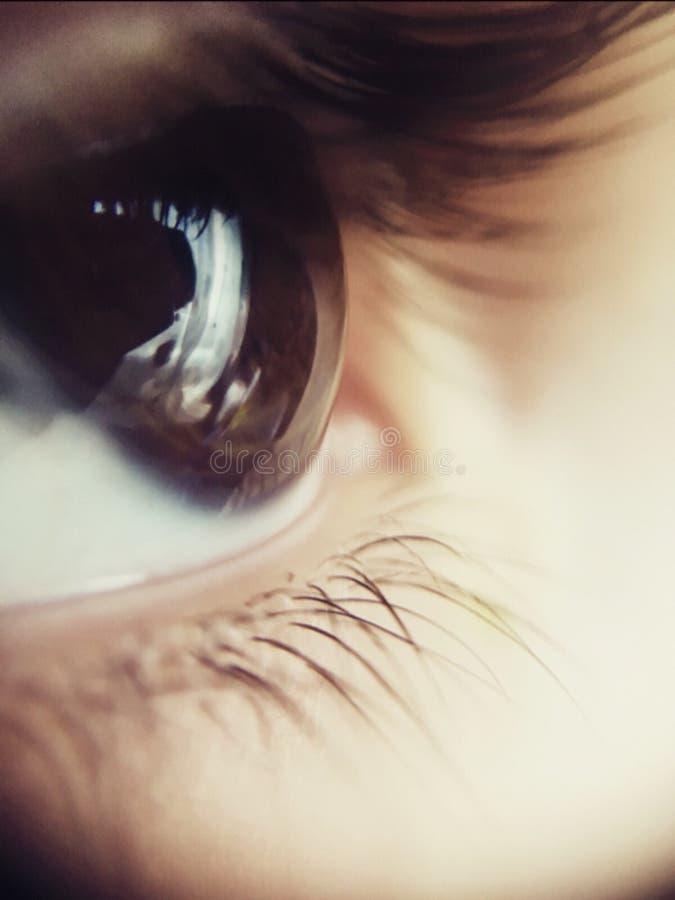 闪耀的眼睛 免版税图库摄影