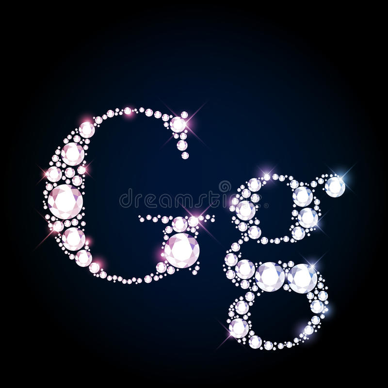 Download 闪耀的金刚石宝石信件G 库存例证. 插画 包括有 典雅, 豪华, 小写, 马眼罩, 水晶, 装饰品, 字体 - 62531189