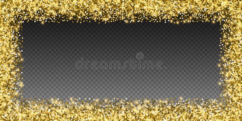 闪耀的金豪华闪耀的五彩纸屑 Scattere 皇族释放例证