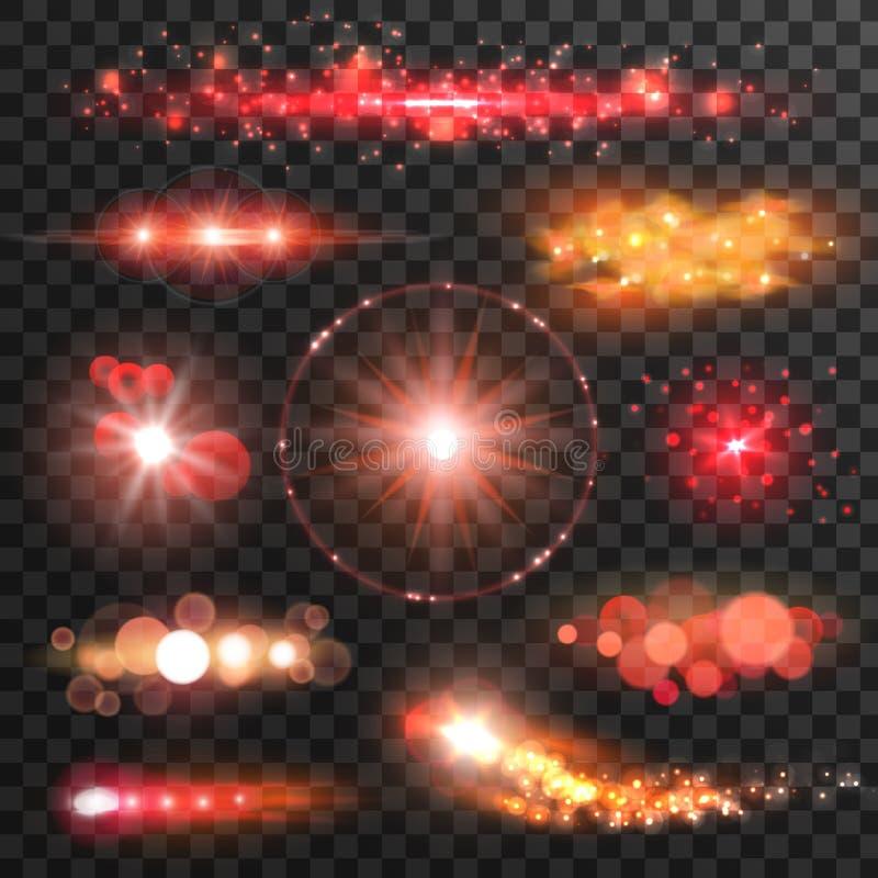 闪耀的轻的闪光 透镜火光作用 皇族释放例证