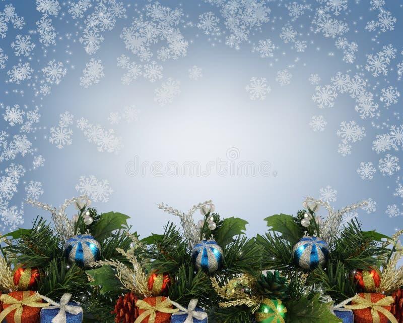 闪耀背景的圣诞节 向量例证