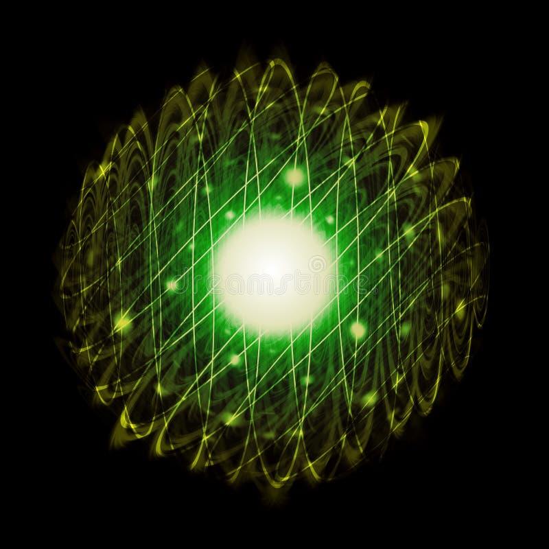 闪耀能量的球充分色和 向量例证