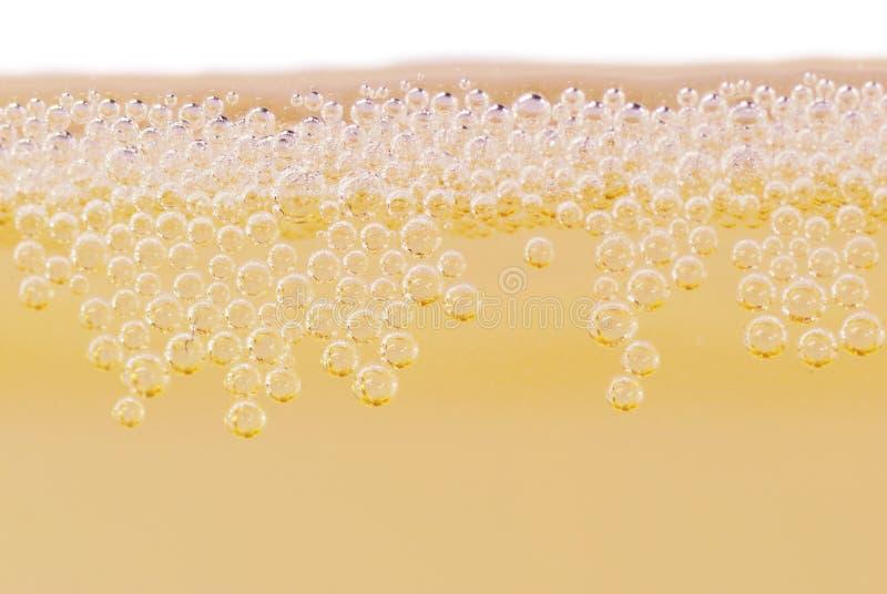闪耀香槟的宏指令 库存照片