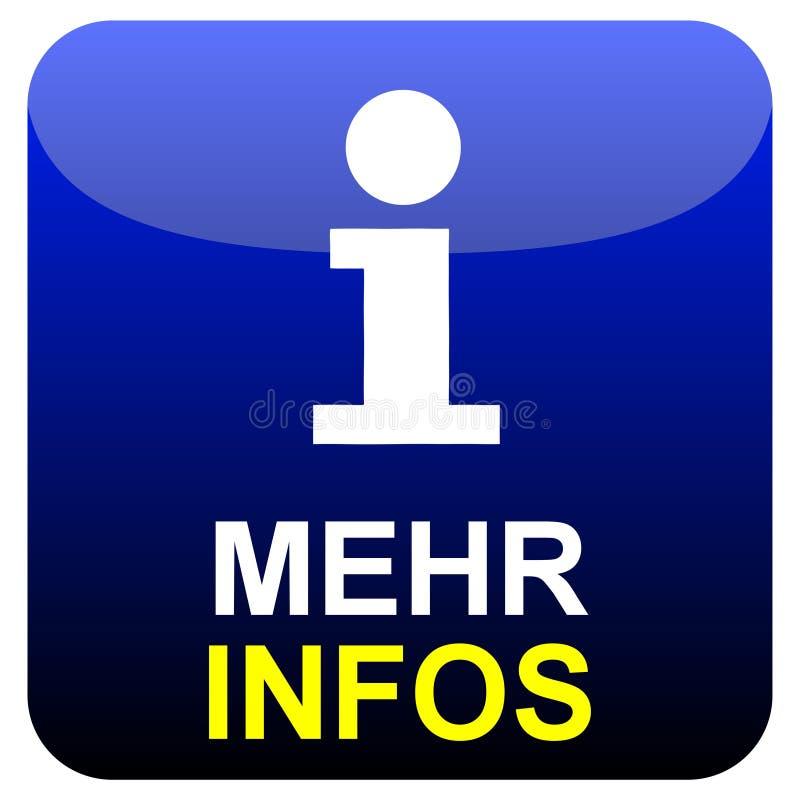 闪闪发亮的黑色和蓝色按钮:莫特信息德语 皇族释放例证