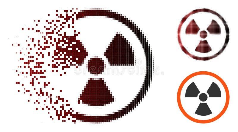 闪闪发光映象点半音辐射危险象 向量例证
