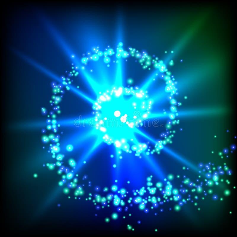 闪闪发光漩涡 向量例证